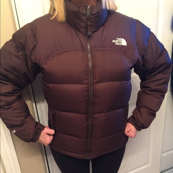 f758433c4 North Face 700 brown puffer jacket Womens Med.